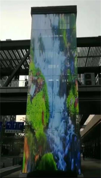 深圳横岗荣德电梯 幕墙LED透明屏